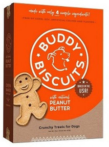 Cloud Star Buddy Biscuits Peanut Butter Baked Dog Treats  - Mickeyspetsupplies.com