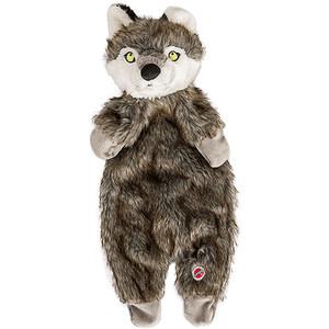 Spot Furrz Wolf Dog Toy is a flattie dog toy