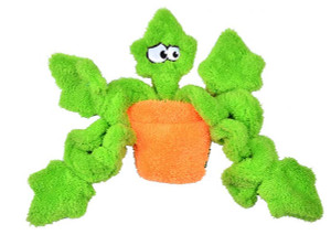 Cycle Dog Duraplush Potted Ivy USA Dog Toy