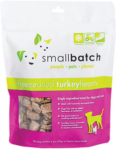 Small Batch Freeze-Dried Turkey Hearts Pet Treats