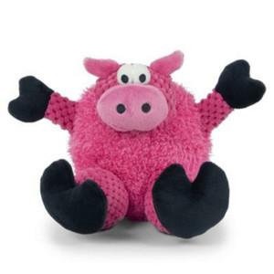 GoDog Checkers Sitting Pig Dog Toy Mini