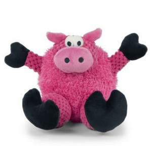 GoDog Checkers Sitting Pig Dog Toy Mini (Just for Me)