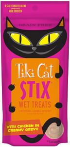 Tiki Cat Stix Wet Treats Chicken in Creamy Gravy- Treat or Food Topper