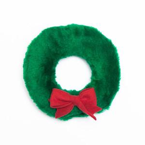 Holiday Wreath Plush USA Dog Toy