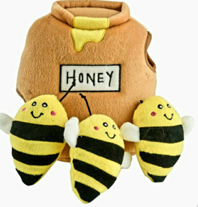 ZippyPaws Bees in Honey Pot Burrow Dog Puzzle Toy