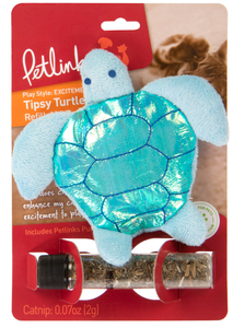 Petlinks Tipsy Turtle Refillable Catnip Toy