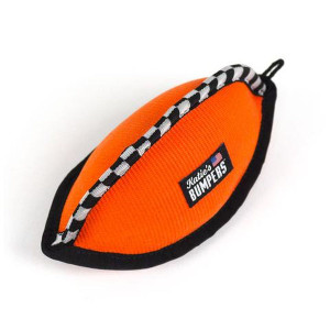 Katie's Bumpers Football Firehose Dog Toy- Mickeyspetsupplies.com