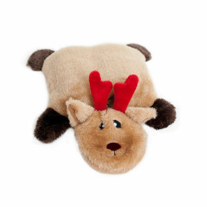 ZippyPaws Squeakie Pad Reindeer- No stuffing dog toy