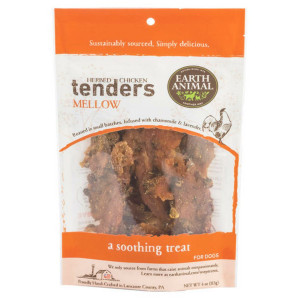 Earth Animal Herbed Chicken Tenders Mellow 4 oz. - A soothing treat for your dog