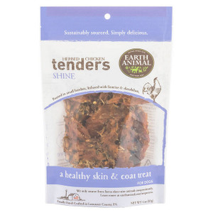 Earth Animal Herbed Chicken Tenders Shine for healthy skin and coat treats