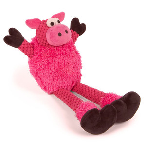 GoDog Checkers Skinny Pig Dog Toy Small