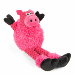 GoDog Checkers Skinny Pig Mini dog toy