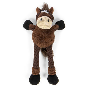 GoDog Checkers Skinny Horse Small with Chewguard technology- Mickeyspetsupplies.com