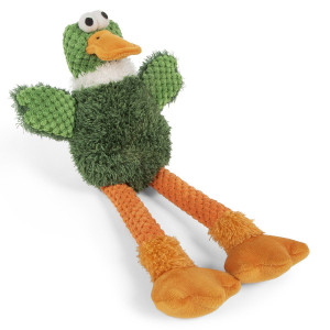 GoDog Checkers Skinny Duck Small with Chewguard technology- Mickeyspetsupplies.com