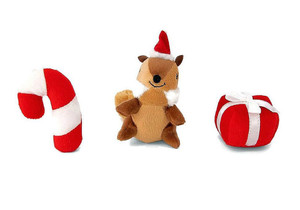 ZippyPaws Holiday Dog Toy- Festive Friends Miniz 3 pack- Mickeyspetsupplies.com