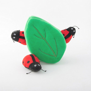 ZippyPaws Burrow Ladybugs in Leaf Dog Puzzle Toy- Mickeyspetsupplies.com