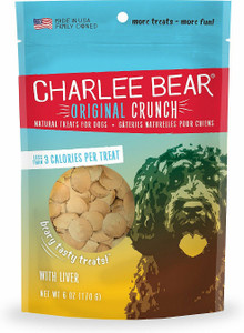 Charlee Bear Original Crunch Liver Dog Treats 6 oz. - Mickeyspetsupplies.com