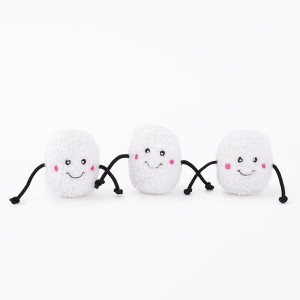 ZippyPaws Holiday Dog Toy- Marshamallows Miniz 3 pack- Mickeyspetsupplies.com