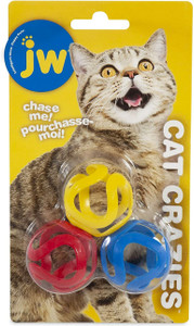 JW Cat Crazies Ball 4 Pack- Mickeyspetsupplies.com