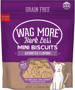Cloud Star Wag More Bark Less Mini Biscuits Assorted Flavors- Mickeyspetsupplies.com