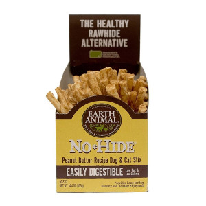 Earth Animal No Hide Peanut Butter Stix  90 Ct