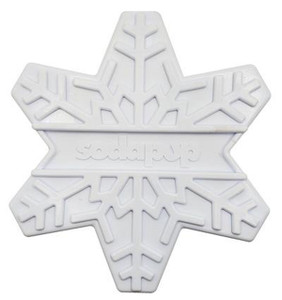 SodaPup Ultra Durable Snowflake Dog Chew Toy for Aggressive Chewers