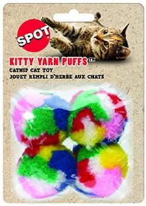 Ethical Spot Kitty Yarn Puffs 4 Pack- Mickeyspetsupplies.com