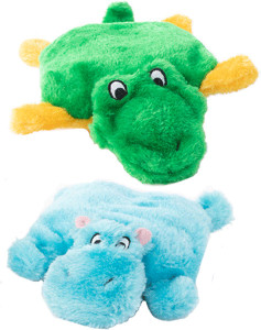 ZippyPaws Squeakie Pads Hippo and Alligator- Mickeyspetsupplies.com