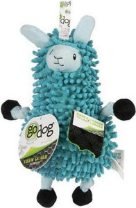 GoDog Noodle Llama With Chewguard Small Blue dog toy- Mickeyspetsupplies.com