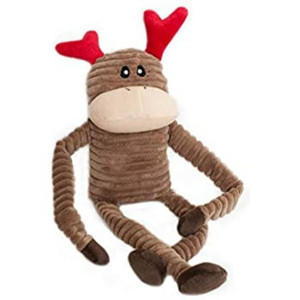 Zippypaws Holiday Crinkle Reindeer Small Dog Toy