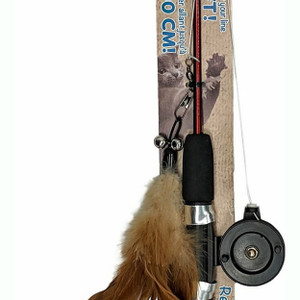 Ethical Pet Fishing Rod and Reel Wand  Cat Toy