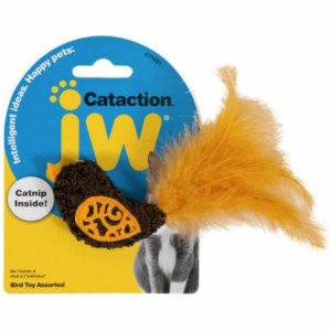 Jze Cataction Catnip Bird with Feather Tail