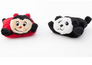ZippyPaws Squeakie Pads Combo Panda and Ladybug