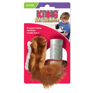 KONG Refillable Squirrel Catnip Toy