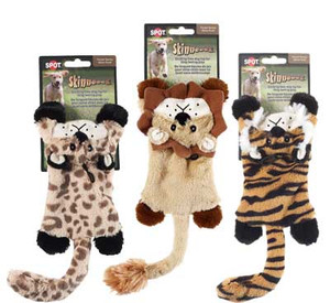 Skinneeez Flat Cats No Stuffing Dog Toy