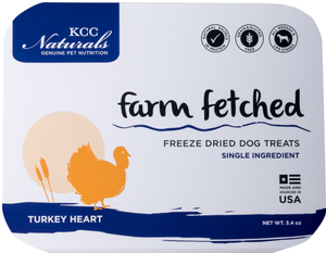 KCC Farms Freeze-Dried Turkey Hearts 3.4 oz.