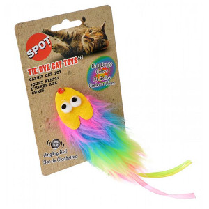 Spot Tie Dye Furry Plush Cat Toy