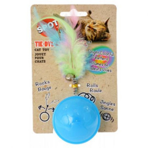 Spot Tie Dye Roller Ball Cat Toy