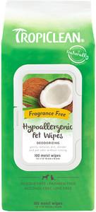 TropiClean Hypoallergenic Pet Wipes- Fragrance Free