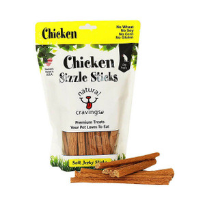 Natural Cravings Chicken Sizzle Sticks Jerky treat for dogs