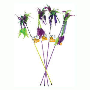 Our Pets Go Cat Go Feather Teaser Wand- Assorted styles