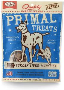 Primal Turkey Liver Munchies - Mickeyspetsupplies.com
