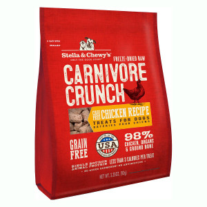 Stella and Chewy's Carnivore Crunch Cage Free Chicken treats for dogs