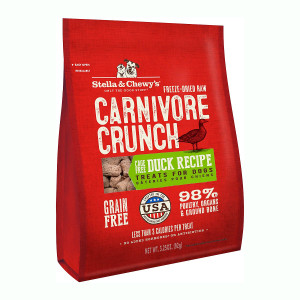 Stella and Chewy's Carnivore Crunch Freeze-Dried Duck Dog Treats- Mickeyspetsupplies.com