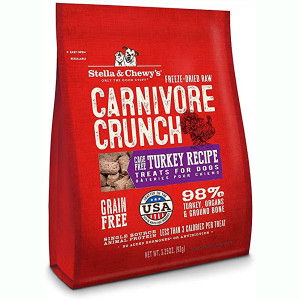 Stella and Chewy's Carnivore Crunch Cage Free Turkey Freeze-Dried Dog Treats