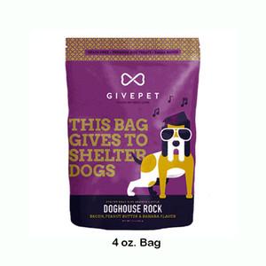 GivePet Doghouse Rock Bacon, Peanut Butter and Banana Dog Treats 4 oz.