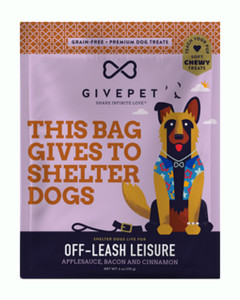 GivePet Off Leash Leisure Applesauce, Bacon and Cinnamon Soft Dog Treats