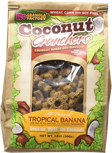 K9 Granola Factory Coconut Tropical Banana Crunchers Dog Treats