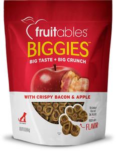 Fruitables Biggies with Crispy Bacon Apple Dog Treats, 16oz bag
