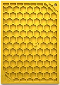 """SodaPup Enrichment Licking Mat - Honeycomb - 5"""" x 7"""""""